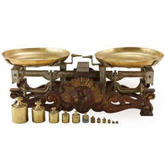 Set of 19th Century French Iron and Brass Scales
