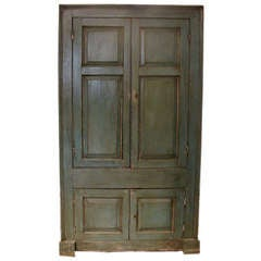 Painted Country Corner Cabinet