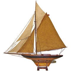 19th Century English Large Pond Yacht