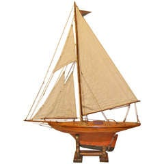 19th Century English Pond Yacht