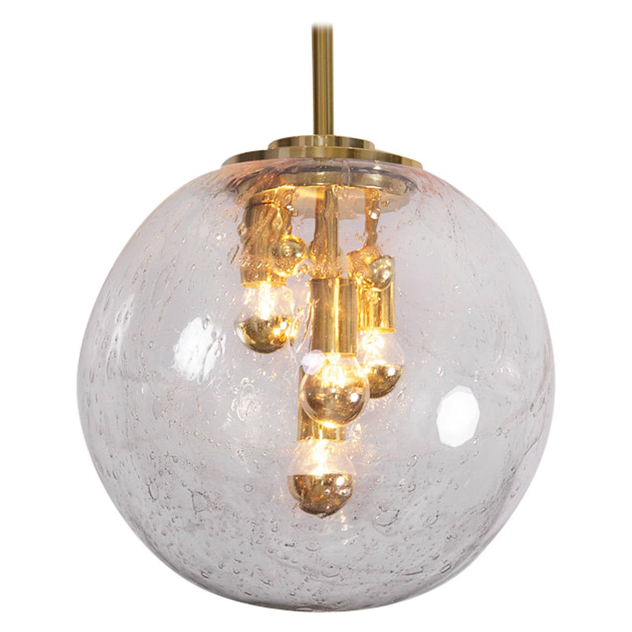 xxl multi light hand blown glass globe sputnik pendant by doria at