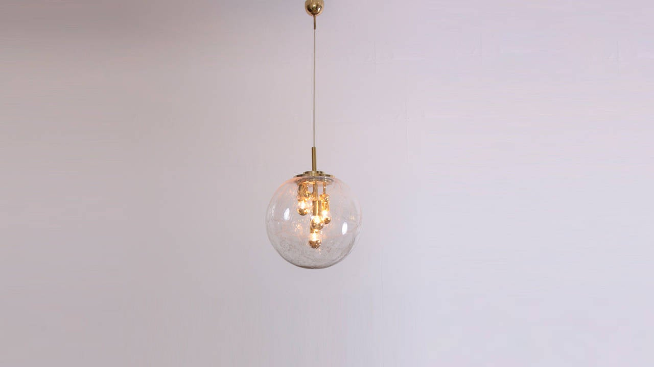 xxl multi light hand blown glass globe sputnik pendant by doria image