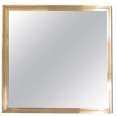 1 of 2 XXL huge Brass Mirror in the manner of Maison Jansen