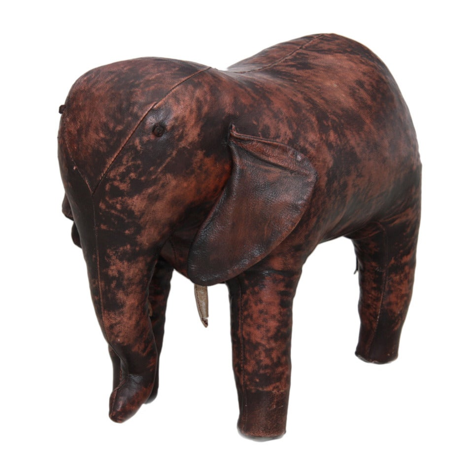 Large Leather Elephant Ottoman By Dimitri Omersa For