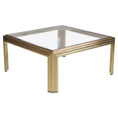 Romeo Rega Coffee Table in Brass and Chrome