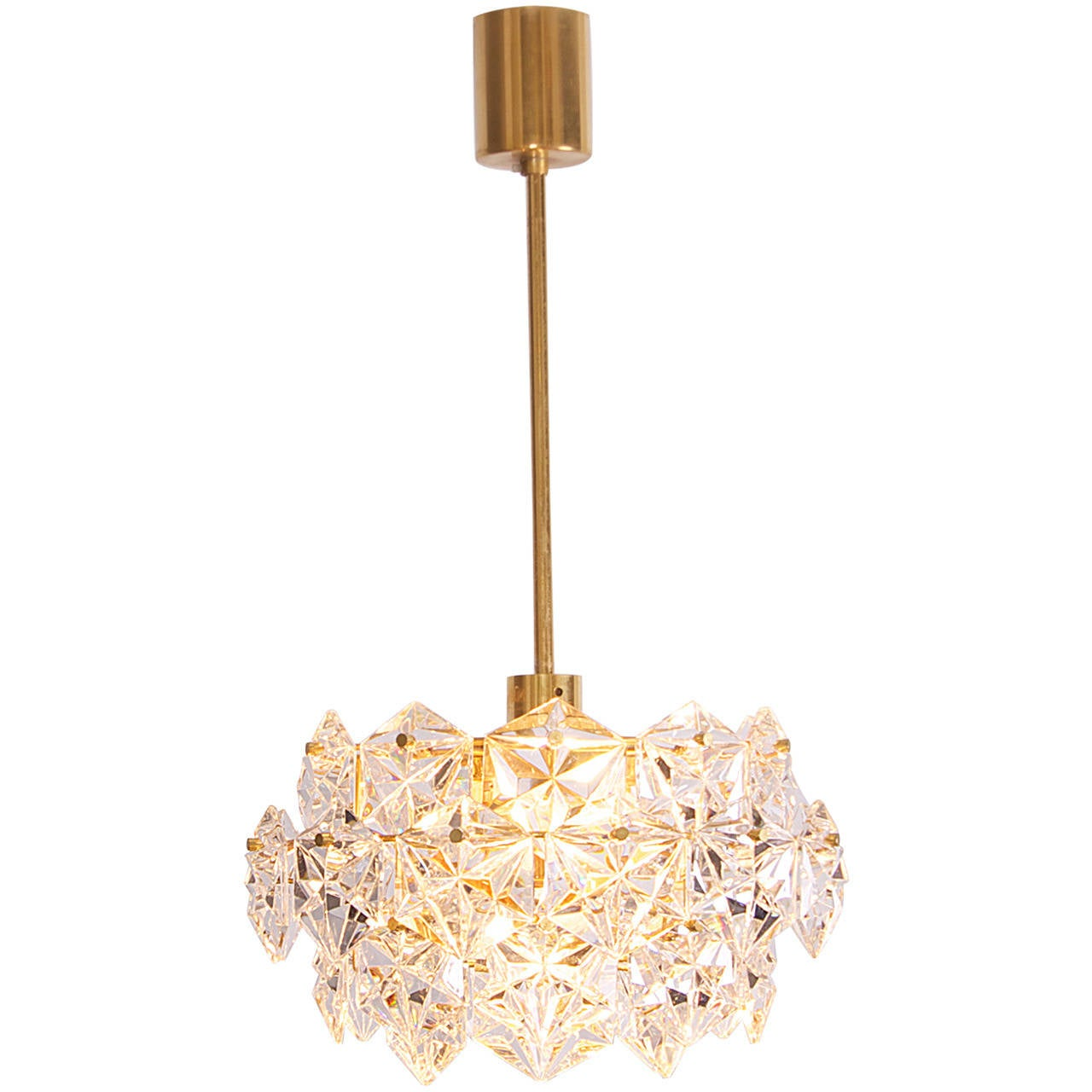 Four-Tier Crystal Glass Kinkeldey Chandelier