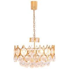 Atemberaubender Palwa Kronleuchter Vergoldetes Messing und Glas