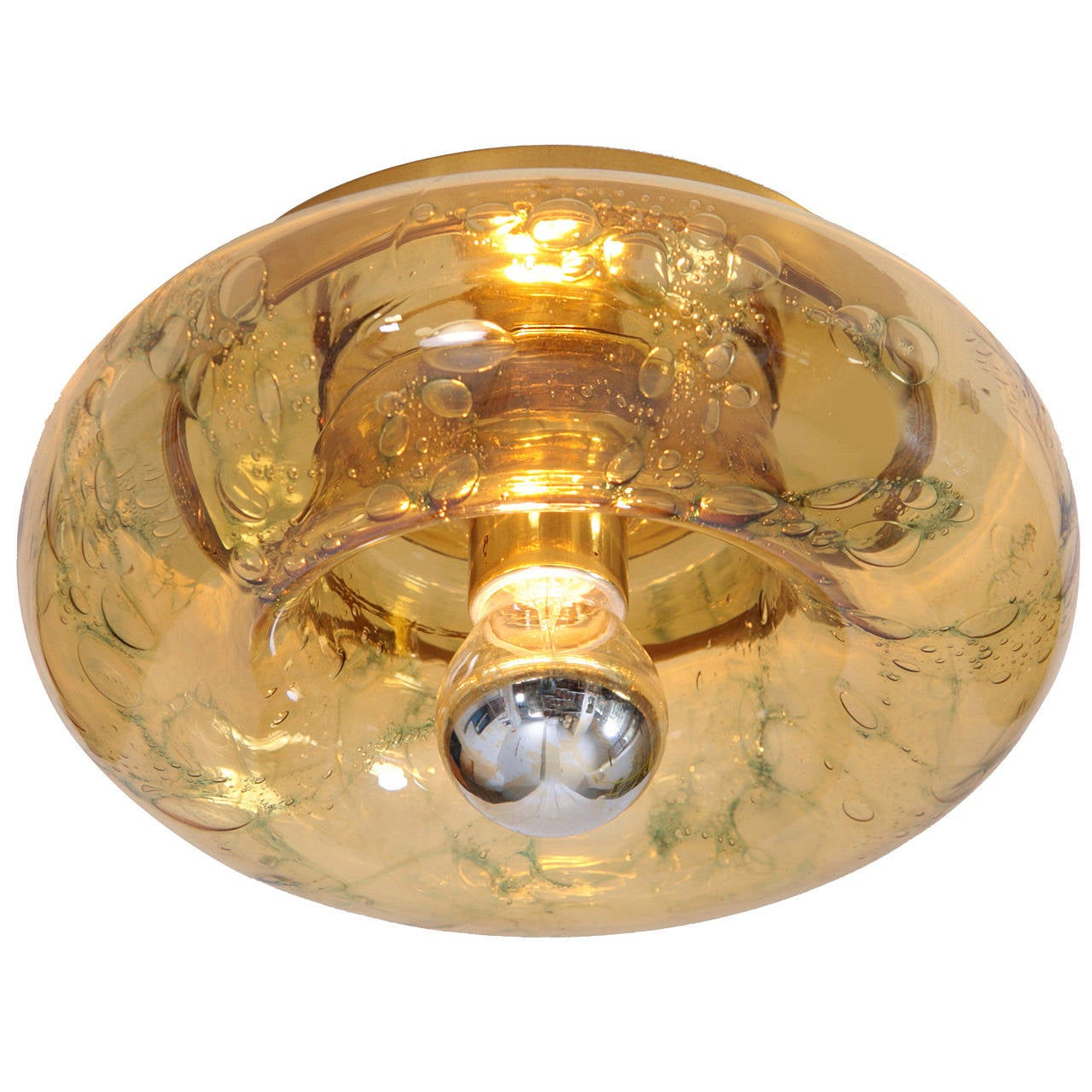 One of three  Doria Murano Glass Flush Mounts or Sconces