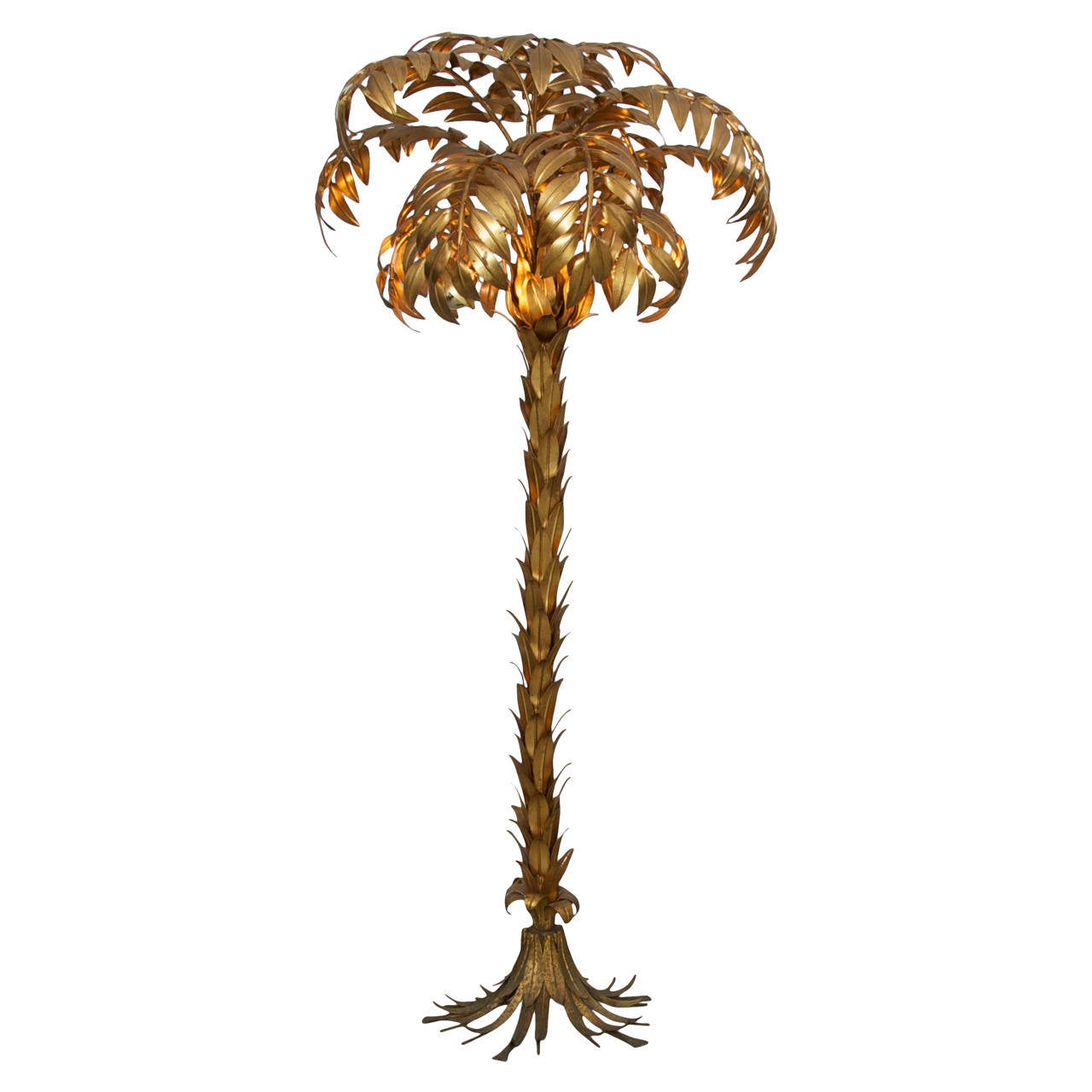 Huge gilt metal palm tree floor lamp by hans kgl at 1stdibs huge gilt metal palm tree floor lamp by hans kgl for sale aloadofball Choice Image