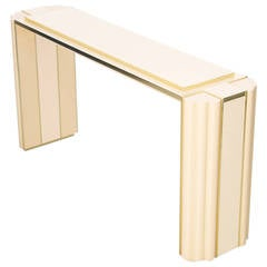 Exceptional Console Tables from Alain Delon for Maison Jansen Signed