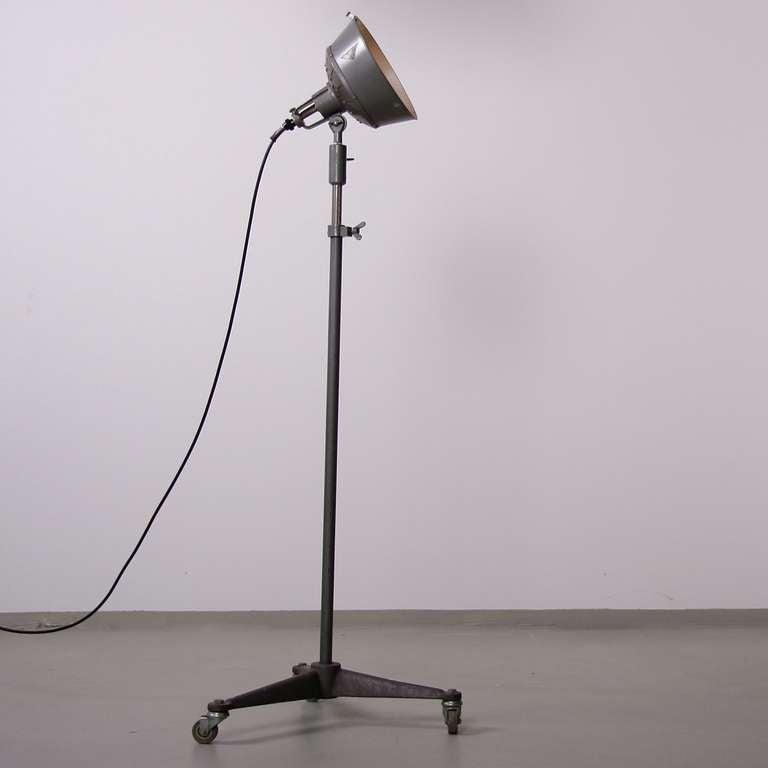 1940s k weinert industrial spot floor lamp on original. Black Bedroom Furniture Sets. Home Design Ideas