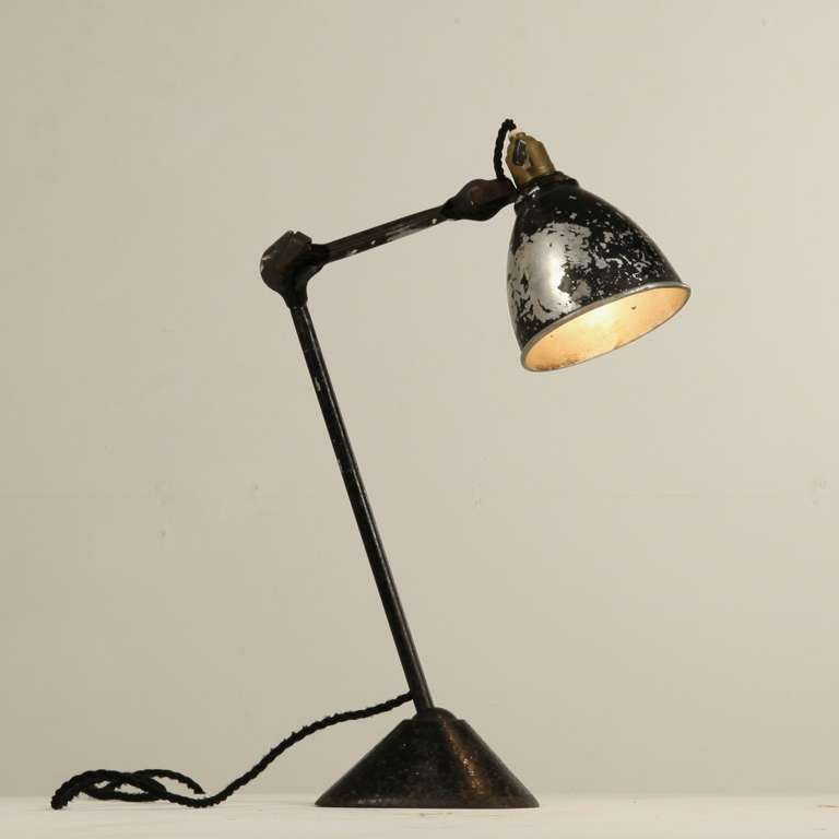 lampe gras model 205 by didier des gachons and ravel 1920s at 1stdibs. Black Bedroom Furniture Sets. Home Design Ideas