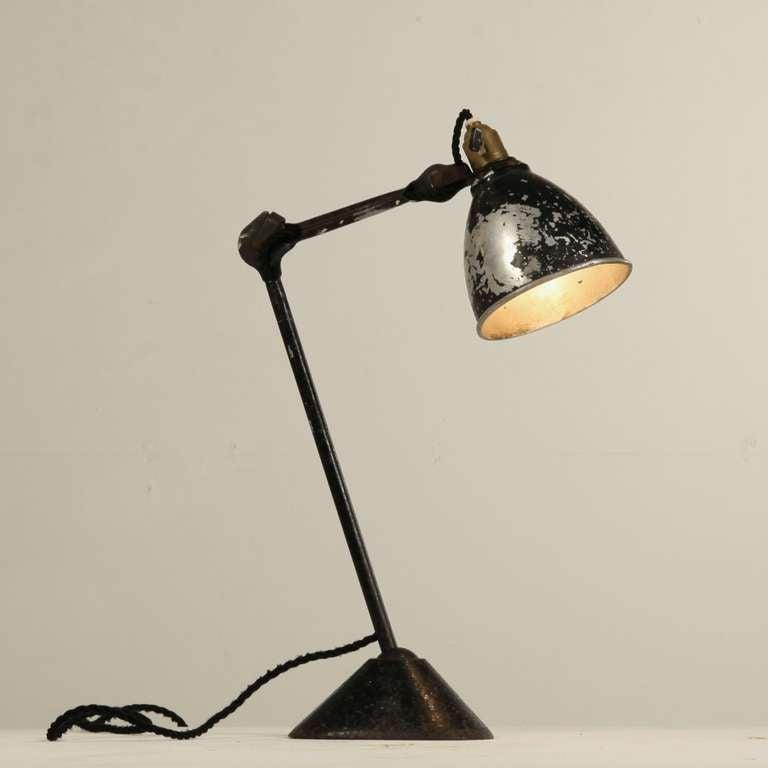 lampe gras model 205 by didier des gachons and ravel 1920s at 1stdibs. Black Bedroom Furniture Sets. Home Design Ideas