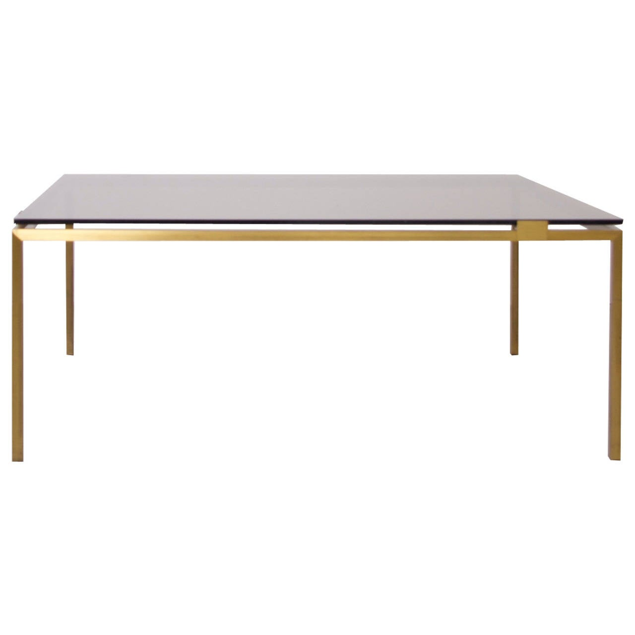 Elegant Brass And Glass Coffee Table In The Manner Of Maison Jansen For Sale At 1stdibs
