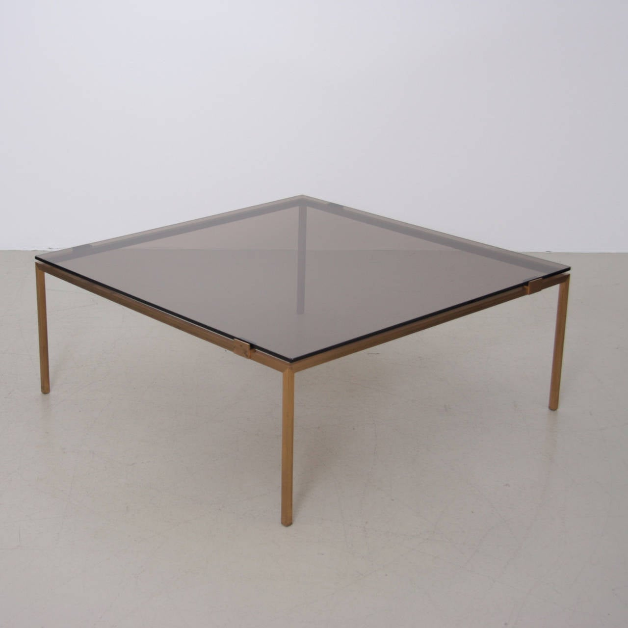 Elegant Brass And Glass Coffee Table In The Manner Of Maison Jansen At 1stdibs