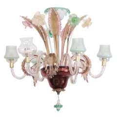 Multicolored Venetian Murano Glass Chandelier