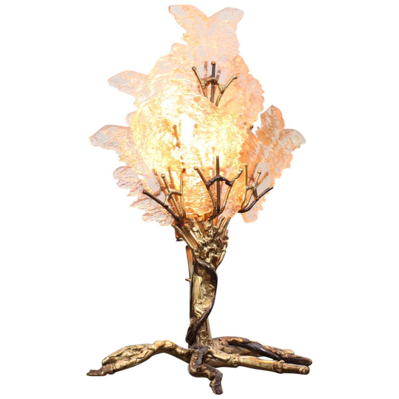 beautiful unique brass tree table lamp by henri fernandez 1 - Unique Table Lamps