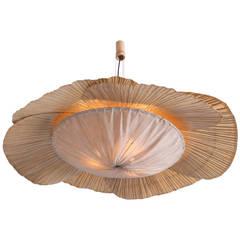 Rare Huge Ingo Maurer Uchiwa Pendant Lamp