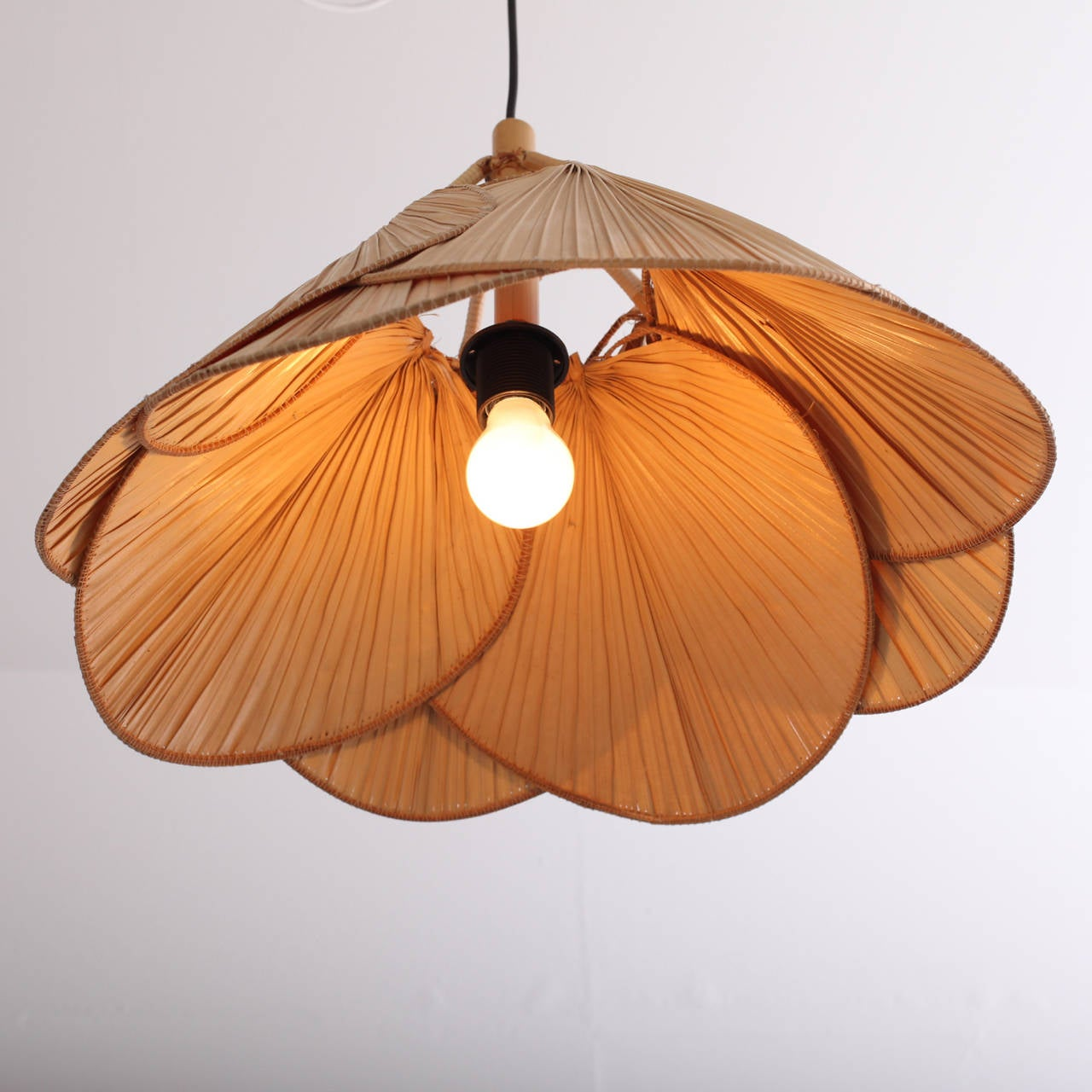 ingo maurer uchiwa pendant lamp at 1stdibs. Black Bedroom Furniture Sets. Home Design Ideas