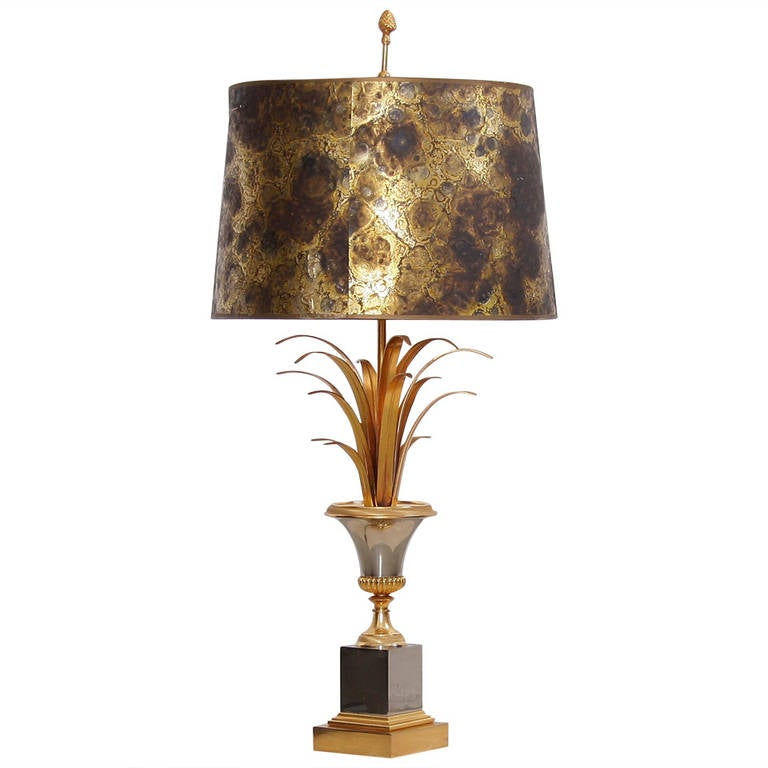Ordinaire Maison Charles Table Lamp With Original Shade For Sale
