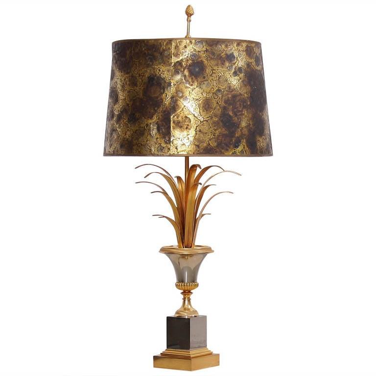 Maison Charles Table Lamp With Original Shade At 1stdibs
