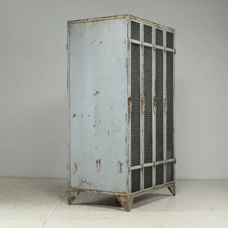 Ultra Rare Large Double Sided Industrial Locker Cabinet at ...