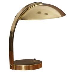 Italian 1960s Luxury Brass Table Lamp