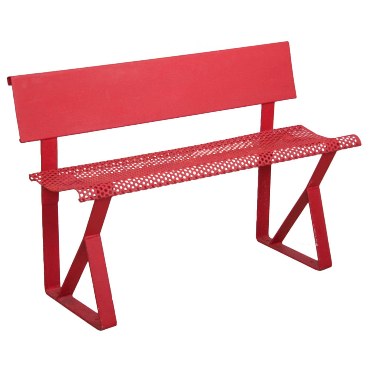 French 1960s Industrial Kids Bench