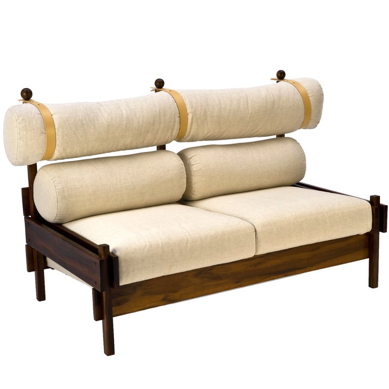 two seater tonico sofa by sergio rodrigues at 1stdibs. Black Bedroom Furniture Sets. Home Design Ideas