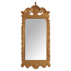 Regency Period Carved And Gilded Convex Mirror For Sale At