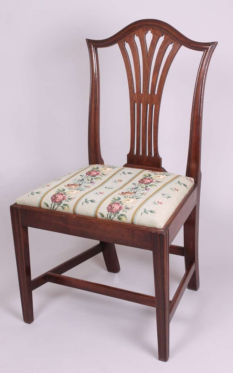 Set of Six George III Period Mahogany Chairs in the ...