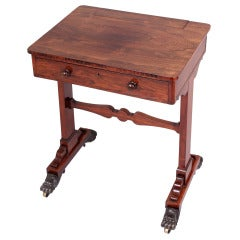 George IV Period Rosewood Chamber Writing-Table