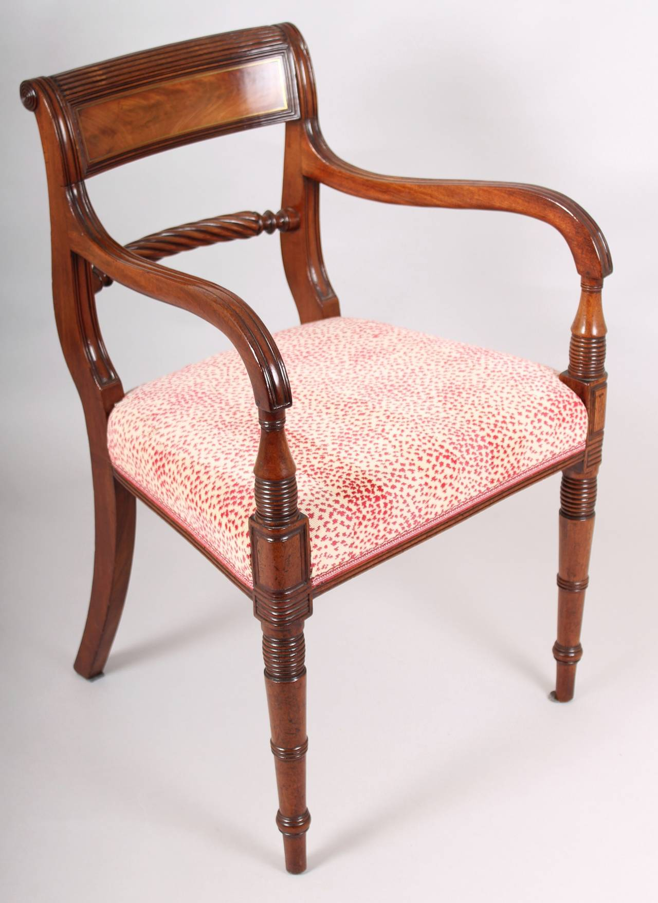 Set of Eight George IV Period Mahogany Dining Chairs at 1stdibs