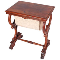 William IV Period Rosewood Work-Table