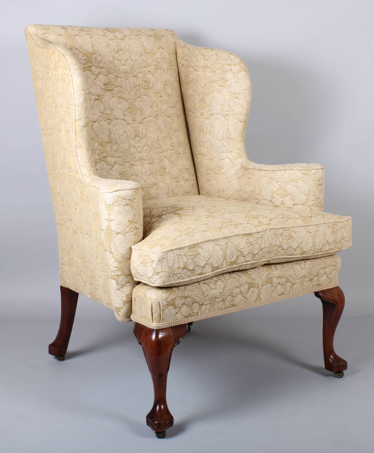 Wingback Chair on Walnut Cabriole Legs in the Classic