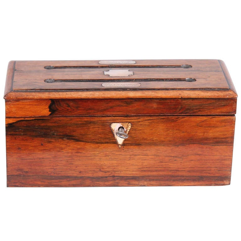 william iv period rosewood desk letter box at 1stdibs With desk letter box