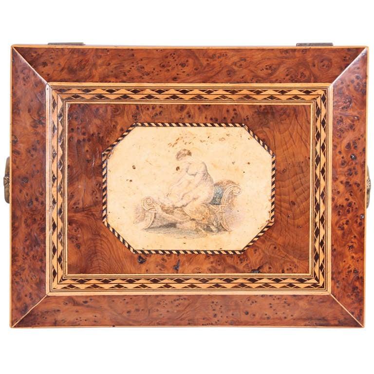 Regency period burr yew work-box