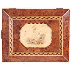 Regency period burr yew work-box