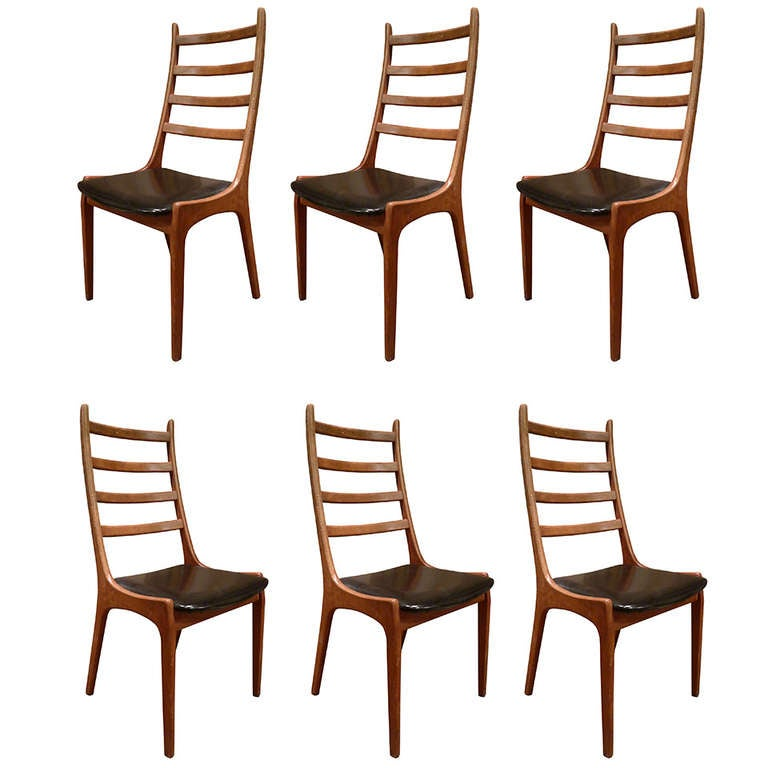 Set of six dining chairs stamped k s mobelfabrik at stdibs