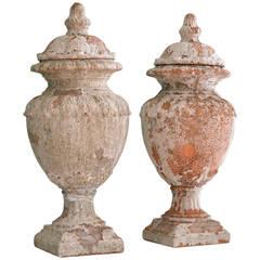 Terracotta Lided Urns