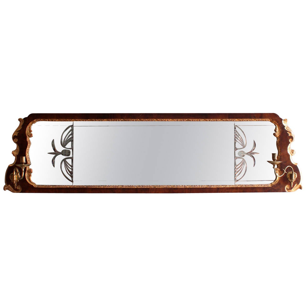 Early georgian overmantle mirror at 1stdibs for Overmantle mirror