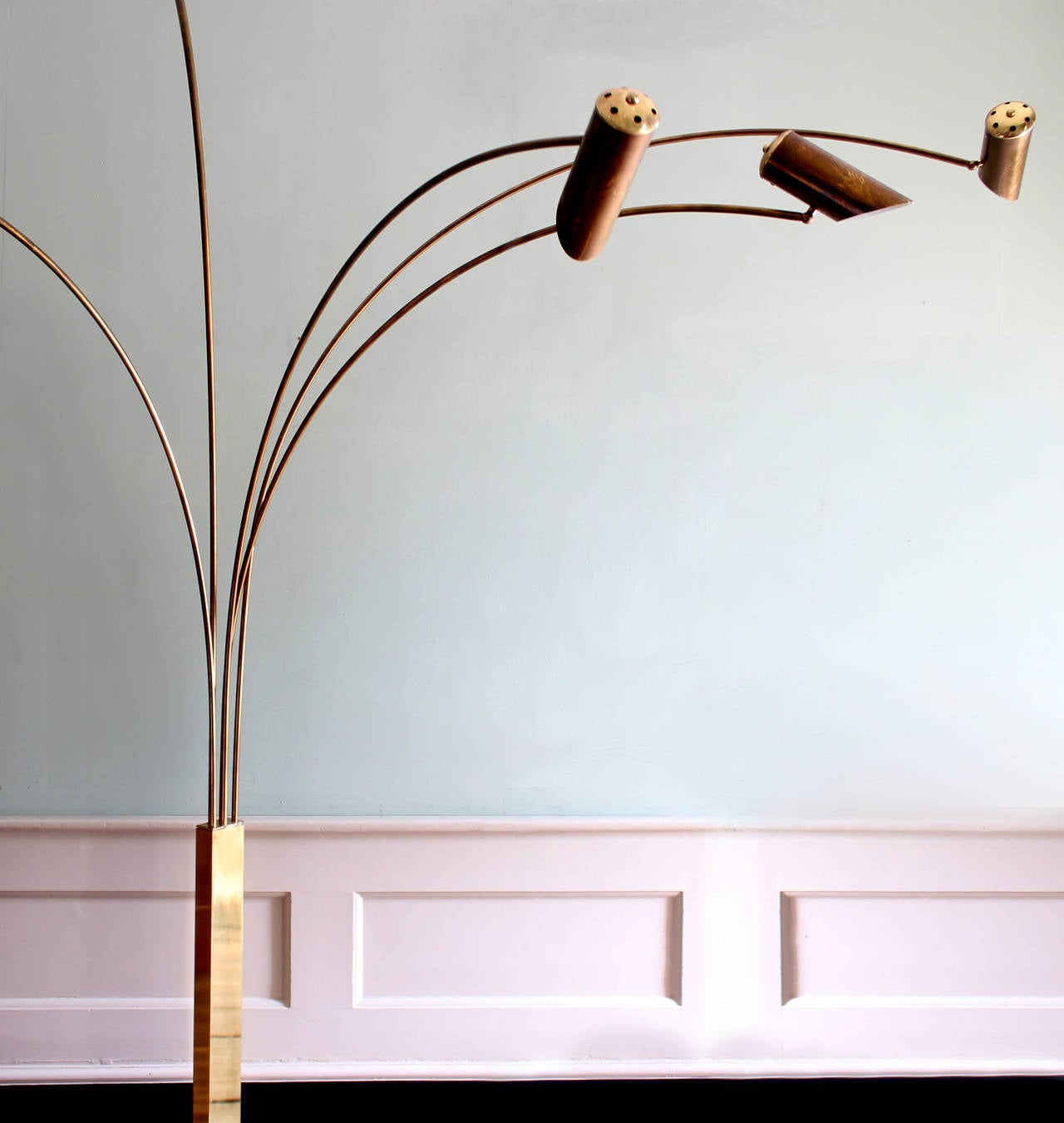 Pair Of Arc Floor Lamps At 1stdibs