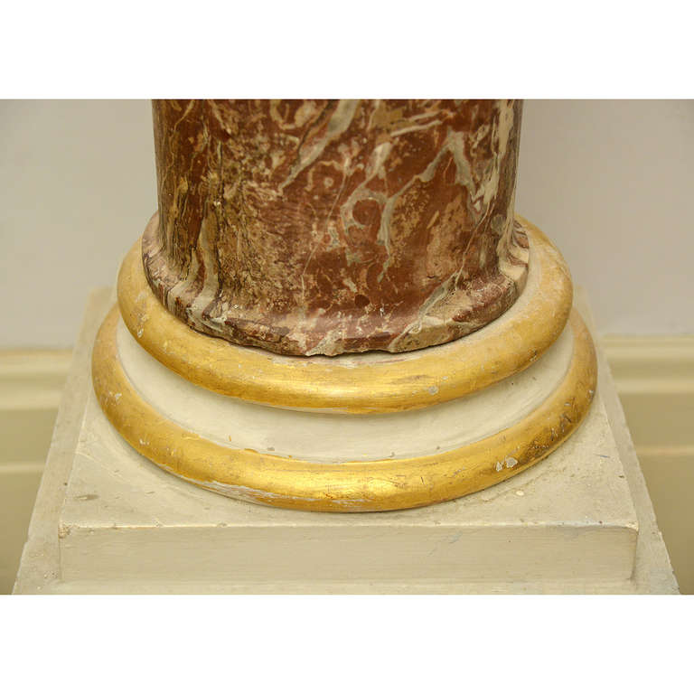 Rouge Royale Marble Columns In Good Condition For Sale In London, GB