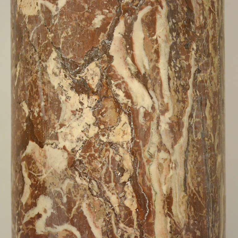 Belgian Rouge Royale Marble Columns For Sale