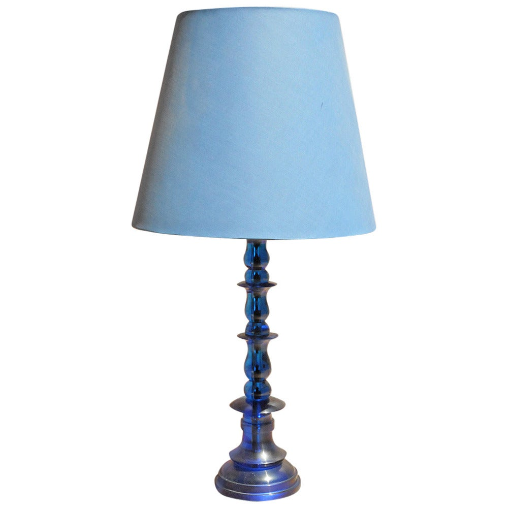 Modern blue table lamp at 1stdibs for Modern contemporary table lamps