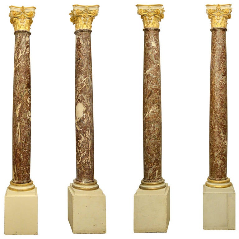 Rouge Royale Marble Columns For Sale