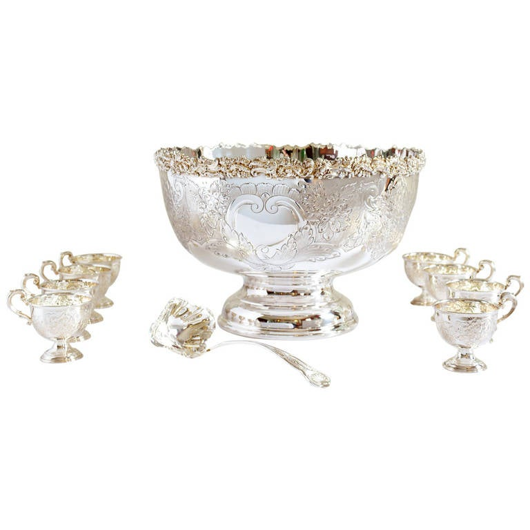 Silverplate Punch Bowl
