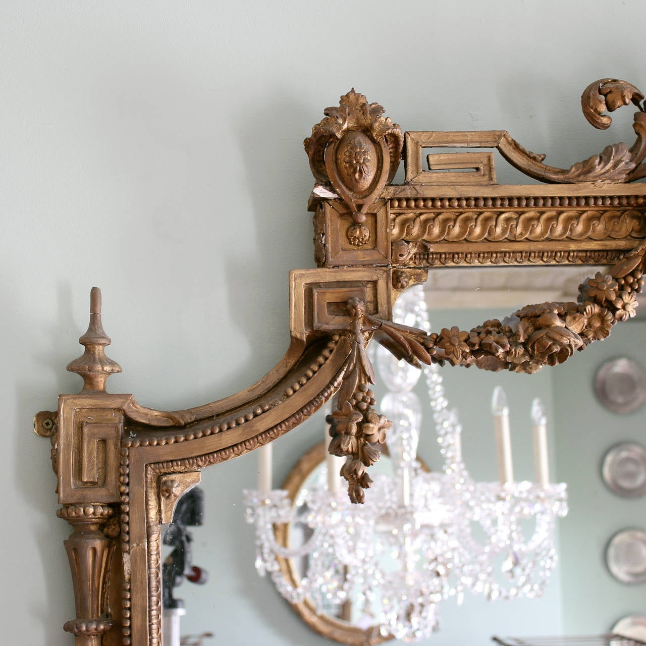 Victorian Overmantle Mirror At 1stdibs