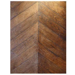 Antique Carpathian Oak Point d'Hongrie Parquet