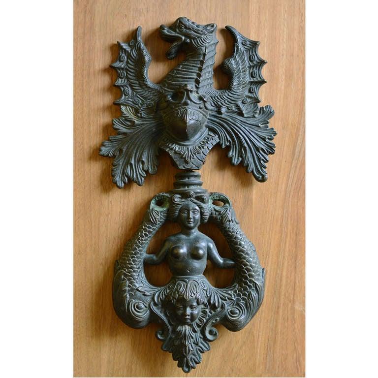 Unknown Nineteenth century Italian bronze door knocker For Sale